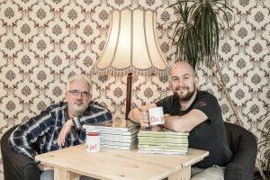 Sven Nieder (Geschäftsführer vom Eifelbildverlag) mit Christian Humberg