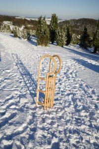 Schlitten im Schnee