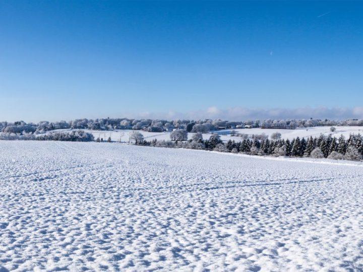 Winterwandern in der schneebedeckten Eifel